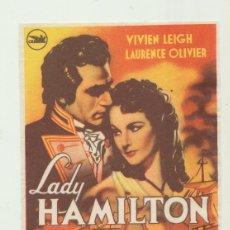 Cine: LADY HAMILTON. SENCILLO DE CEPICSA.. Lote 51739590
