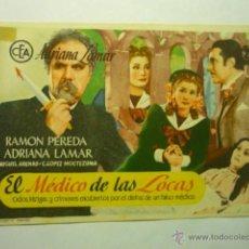 Foglietti di film di film antichi di cinema: PROGRAMA EL MEDICO DE LAS LOCAS-RAMON PEREDA. Lote 51767836