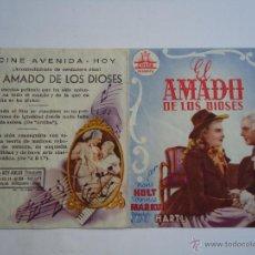 Cine: EL AMADO DE LOS DIOSES. LA HISTORIA DE MOZART,CON HANS HOLT, DOBLE. C/P. CINE AVENIDA. GIJÓN. ALB.. Lote 51791387