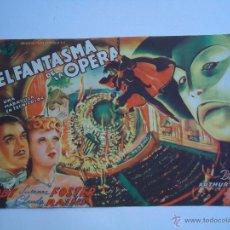 Cine: EL FANTASMA DE LA OPERA. NELSON EDDY, CLAUDE RAINS. TAMAÑO GRANDE,21X14.C/P.CINE FILARMÓNICA. ALB. Lote 54247104