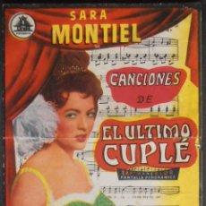 Cine: EL ULTIMO CUPLE,FOLLETO DE MANO (11650),CONSERVACION,VER FOTOS. Lote 51803703