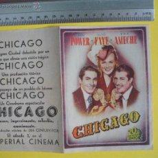 Cine: FOLLETO DE MANO DOBLE - CHICAGO -1943 . Lote 51816317