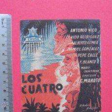 Cine: FOLLETO DE MANO - LOS CUATRO ROBINSONES CINE MODERNO FUENTE PALMERA -1939. Lote 51835849