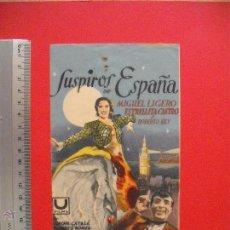 Cine: FOLLETO DE MANO -SUSPIROS DE ESPAÑA - 1939 . Lote 51848235