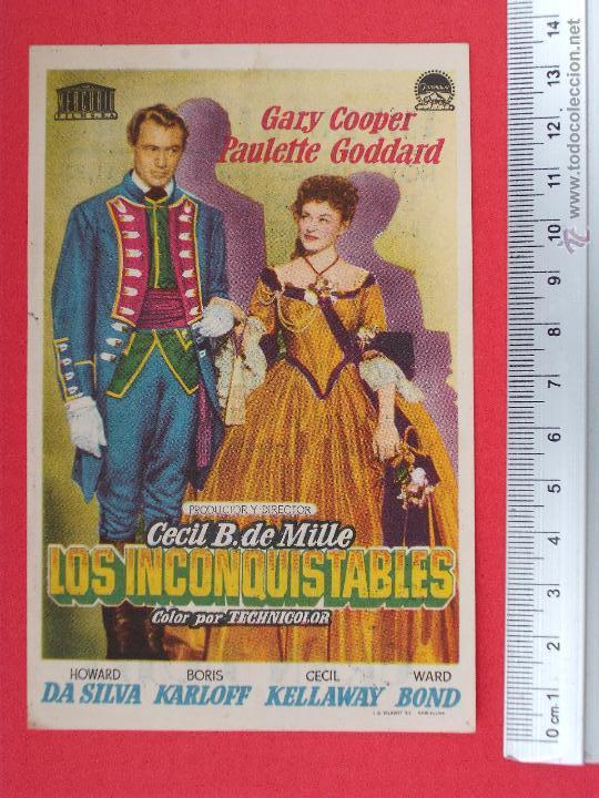 FOLLETO DE CINE - LOS INCONQUISTABLES - 1952 (Cine - Folletos de Mano - Comedia)