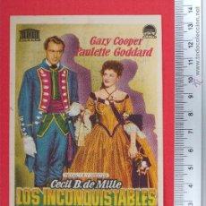 Cine: FOLLETO DE CINE - LOS INCONQUISTABLES - 1952. Lote 51885140