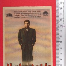 Cine: FOLLETO DE CINE - AL VOVER A LA VIDA - 1951. Lote 51886170