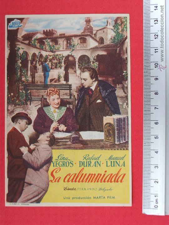 FOLLETO DE CINE - LA CALUMNIADA - 1949 (Cine - Folletos de Mano - Comedia)