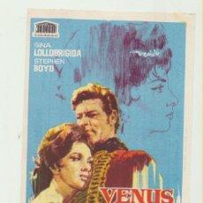Cine: VENUS IMPERIAL. SENCILLO DE MERCURIO. IMPERIAL CINEMA - CALLOSA DE SEGURA 1965. ¡IMPECABLE!. Lote 51887413