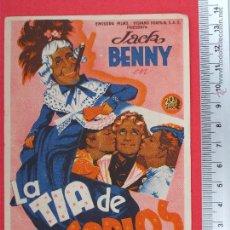 Cine: FOLLETO DE CINE - LA TIA DE CARLOS -1946. Lote 51887715