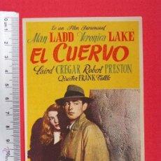 Cine: FOLLETO DE CINE -EL CUERVO - 1951. Lote 51888616