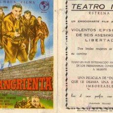 Cine: FUGA SANGRIENTA. FOLLETO DE MANO TEATRO IRIS ZARAGOZA. Lote 52148313