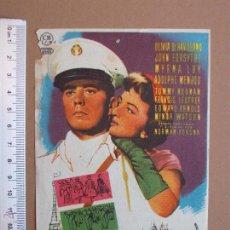 Cine: FOLLETO DE CINE -LA HIJA DEL EMBAJADOR - 1958. Lote 51927182