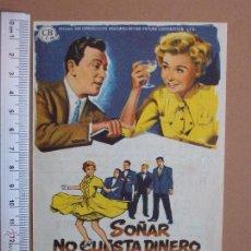 Cine: FOLLETO DE CINE -SOÑAR NO CUESTA DINERO -1959. Lote 51927379