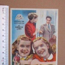 Cine: FOLLETO DE CINE -LAS CARLOTAS -1954. Lote 51928026
