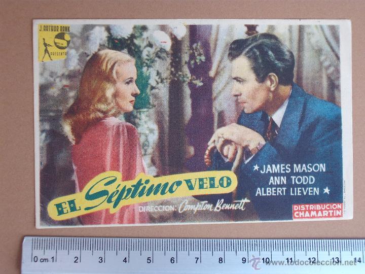 FOLLETO DE CINE -EL SEPTIMO VELO - 1948-¡BUENISIMO¡ (Cine - Folletos de Mano - Comedia)