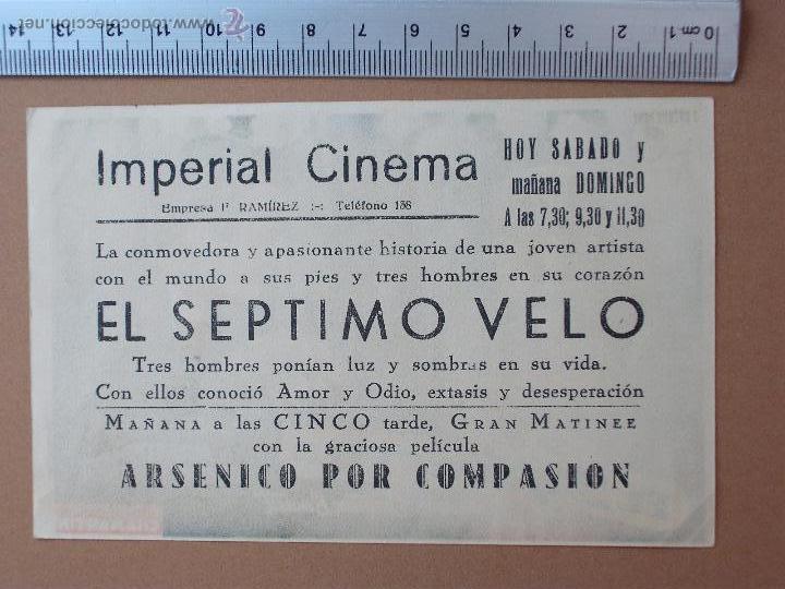 Cine: FOLLETO DE CINE -EL SEPTIMO VELO - 1948-¡Buenisimo¡ - Foto 2 - 51929946