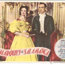 Cine: TEATRO ANDALUCIA (CÁDIZ) ESTRENO 6-1-1950 EL MARQUES DE SALAMANCA. ALFREDO MAYO-CONCHITA MONTES. Lote 51930092