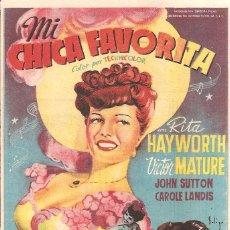 Cine: TEATRO ANDALUCIA (CÁDIZ) ESTRENO 24-2-1950 MI CHICA FAVORITA CON RITA HAYWORTH-VICTOR MATURE. Lote 51930203
