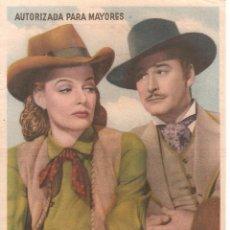 Cine: TEATRO ANDALUCIA (CÁDIZ) ESTRENO 21-4-1950 RIO DE PLATA WARNER BROS. PRESENTA A ERROL FLYNN-ANN SHER. Lote 51930305