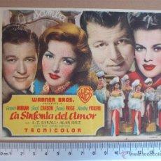 Cine: FOLLETO DE CINE - LA SINFONIA DEL AMOR- 1950. Lote 51931524