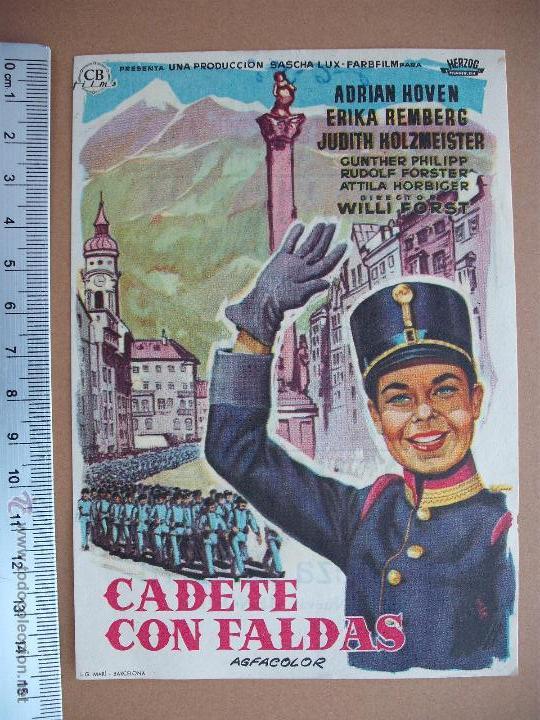 FOLLETO DE CINE -CADETE CON FALDAS - 1958 (Cine - Folletos de Mano - Comedia)