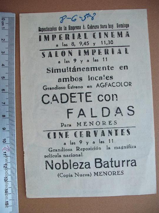 Cine: FOLLETO DE CINE -CADETE CON FALDAS - 1958 - Foto 2 - 51933608