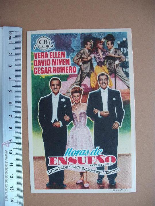 FOLLETO DE CINE -HORAS DE ENSUEÑO - 1951 (Cine - Folletos de Mano - Comedia)