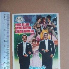 Cine: FOLLETO DE CINE -HORAS DE ENSUEÑO - 1951. Lote 51933854