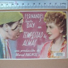 Cine: FOLLETO DE CINE -TEMPESTAD DE ALMAS. Lote 51934070