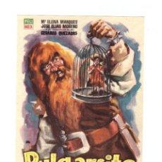 Cine: PULGARCITO. SENCILLO DE PELIMEX. CINE CAPITOL - TARRAGONA 1960.. Lote 51934723