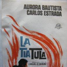 Cine: LA TIA TULA. DIRECCIÓN MANUEL PICAZO. Lote 51941932