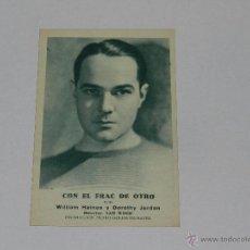 Cine: CON EL FRAC DE OTRO POR WILLIAM HAINES Y DOROTHY JORDAN - METRO-GOLDWYN-MAYER . Lote 51959290