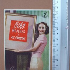 Cine: FOLLETO DE MANO - OCHO MUJERES Y UN CRIMEN- 1944 - !BUENISIMO¡. Lote 51968393