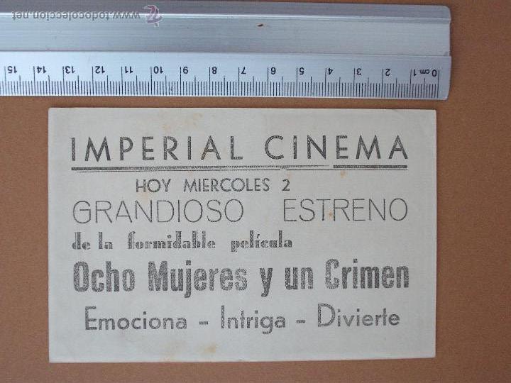 Cine: FOLLETO DE MANO - OCHO MUJERES Y UN CRIMEN- 1944 - !Buenisimo¡ - Foto 2 - 51968393