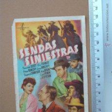 Cine: FOLLETO DE MANO- SENDAS SINIESTRAS- 1946. Lote 51969996