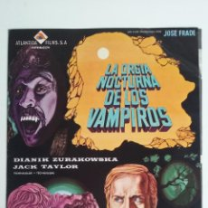 Cine: GUIA/CARTEL DE CINE DE TERROR/LA ORGIA NOCTURNA DE LOS VAMPIROS.. Lote 51998954