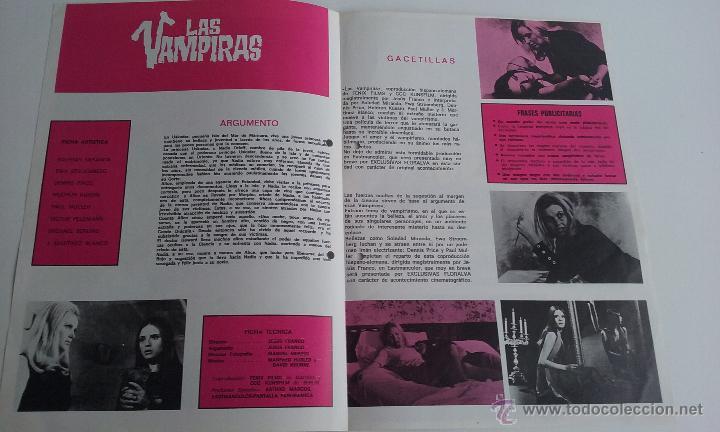 Cine: GUIA/CARTEL DE CINE TERROR/LAS VAMPIRAS-JESUS FRANCO. - Foto 2 - 51999009