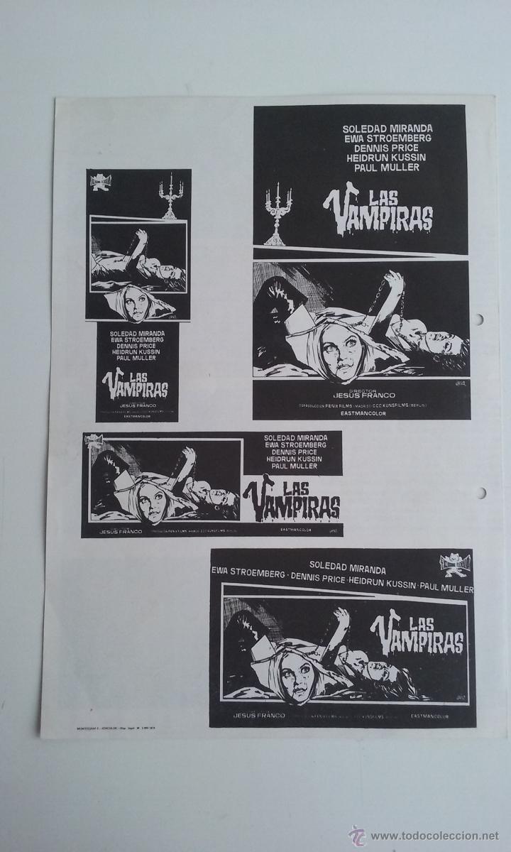 Cine: GUIA/CARTEL DE CINE TERROR/LAS VAMPIRAS-JESUS FRANCO. - Foto 3 - 51999009