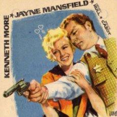 Folhetos de mão de filmes antigos de cinema: PROGRAMA DE MANO DE CINE ANTIGUO . LA RUBIA Y EL SHERIFF .CINE DORADO ZARAGOZA. Lote 283908318