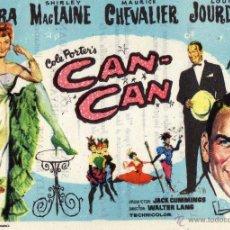 Flyers Publicitaires de films Anciens: PROGRAMA DE MANO DE CINE ANTIGUO. CAN CAN. COLISEO EQUITATIVA ZARAGOZA. Lote 142875774