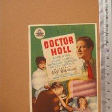 Cine: FOLLETO DE MANO- DOCTOR HOLL- 1953 ¡BUENISIMO!. Lote 52010779