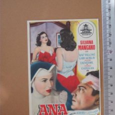 Cine: FOLLETO DE MANO- ANA- 1955 ¡BUENISIMO!. Lote 52011335