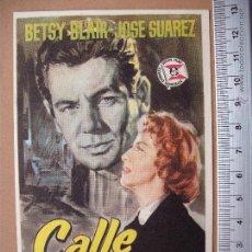 Cine: FOLLETO DE MANO- CALLE MAYOR- 1960. Lote 52018683