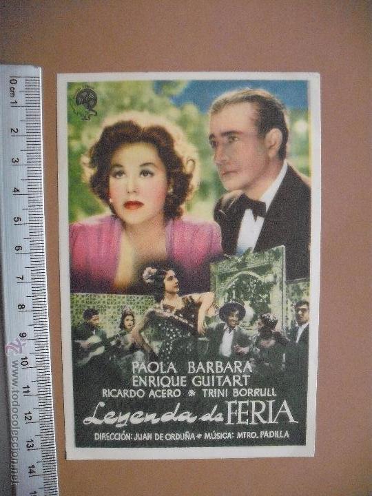 LEYENDA DE FERIA -1946 (Cine - Folletos de Mano - Comedia)