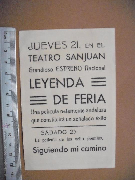 Cine: LEYENDA DE FERIA -1946 - Foto 2 - 52121084