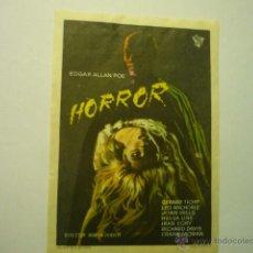 Cine: PROGRAMA HORROR - GERARD TICHY--PUBLICIDAD BB. Lote 52148796