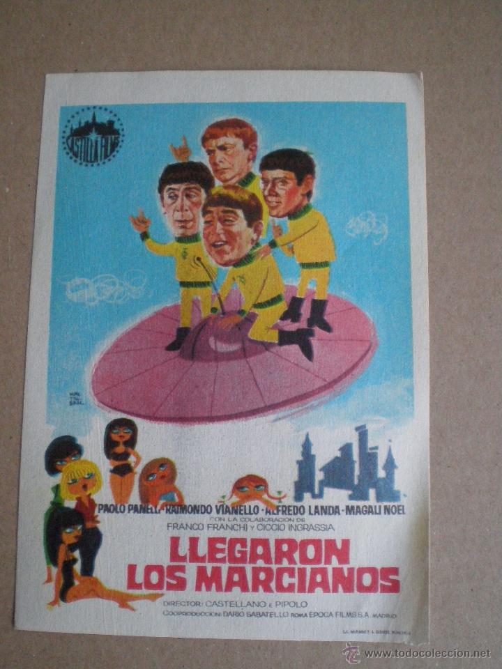 LLEGARON LOS MARCIANOS // PROGRAMA DE MANO CASTILLA FILMS 1964 // COMEDIA TRASH SCI-FI (Cine - Folletos de Mano - Ciencia Ficción)