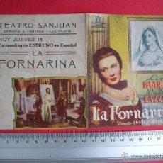 Cine: LA FORNARINA- 1944. Lote 52160342