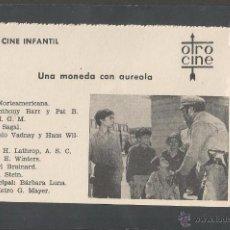 Cine: UNA MONEDA CON AUREOLA - CINE INFANTIL - OTRO CINE - (C-2254). Lote 52160922